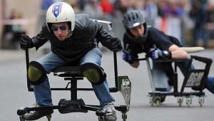 corsa sedie ufficio sport
